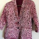 Vintage Rockability Simone by Katie Nehra Metallic Pink Leopard Blazer Jacket