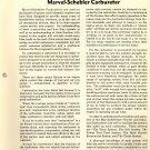 Marvel-Schebler Carbureter Group II,Engine Section S Fuel System Manual PDF