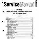 Realistic DX-440 Service Manual 20-221 + Owner's Manual pdf ebook on CD