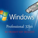 Microsoft Windows 7 Professional 32bit Re-Install Recovery Repair Fix Boot USB