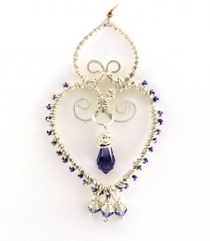 Wire Jewelry Tutorial Project - Downloadable Instructions - Heather Earrings