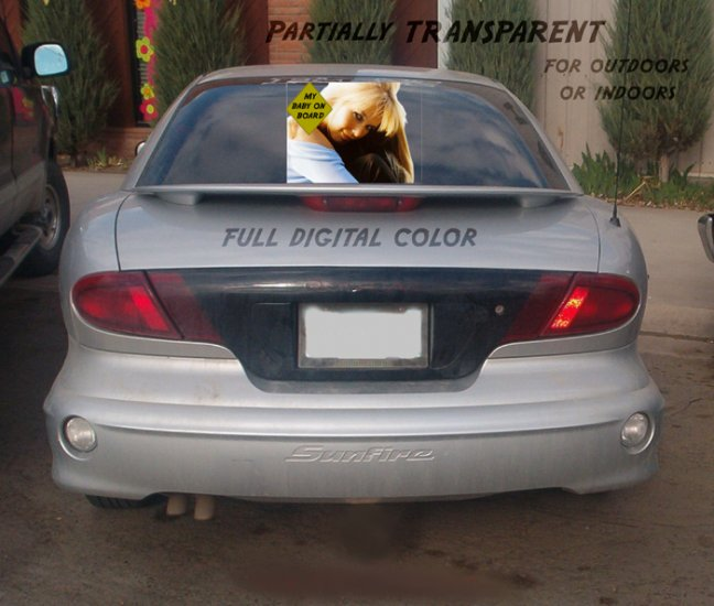 Full color Window Decals CUSTOMIZABLE