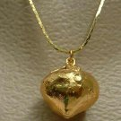 Glittering 'Ball of Gold' Pendant Necklace Vintage Jewelry