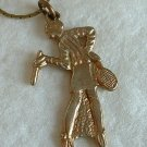 Virginia Slims Tennis Player Pendant Necklace 20s style