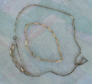 Ladder Chain Necklace 26 inches Married Bracelet 9.5 inches