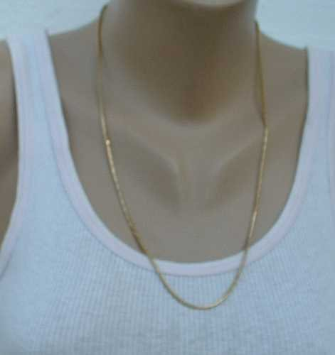 Textured Square Snake Chain 24 inches Long Jewelry