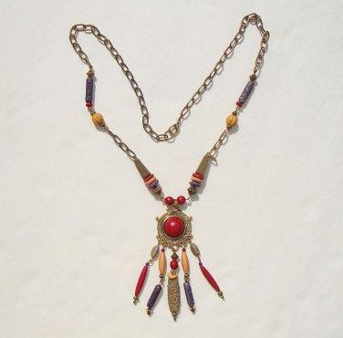 South American Columbian Style Necklace Manchu Picchu Bead Jewelry