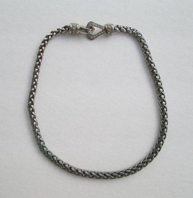 Byzantine Chain Necklace Rhinestone Magnetic Clasp Classy Jewelry
