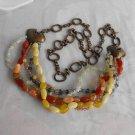Chico's Ultra Long Heavy Statement Necklace or Belt Gemstones Retro Jewelry