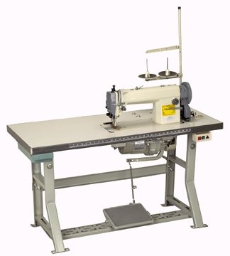 INDUSTRIAL, WALKING FOOT, LOCK STITCH, SEWING MACHINE  with TABLE