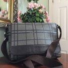 Coach Men's Tattersall Messenger Bag F70750 Plaid Brown Gray A1