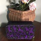 Coach Ocelot Traveling Jewelry Case Box Purple Metallic Black Swirls B2E