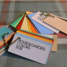 4(four) HOUSE AND GARDEN Keychain - COLORS 1978 *39 card SAMPLES* chain sets