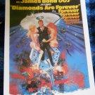 James Bond 1971 movie Diamonds Are Forever POSTCARD starring Sean Connery-Unused
