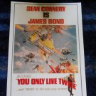 """James Bond 1971 movie """"YOU ONLY LIVE TWICE"""" POSTCARD starring Sean Connery-Unused"""