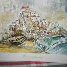 SEASONS GREETINGS *Joseph Kossonogi Israeli artist* Port of Jaffa