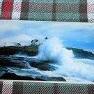 Nubble Lighthouse @ York , surf breaking Maine Postcard