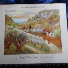 Vintage 60s JEWISH NEW YEAR* to Dearest Mother and Dad*painting BY R Rubin