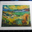 Vintage 60s JEWISH NEW YEAR* *painting BY Isador Aschheim*Lake Kinerat