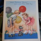 VINTAGE BIRTHDAY 1930's *To Mommy from your BIG little Boy -  Greeting Card
