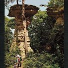Stand Rock @ Wisconsin Dells Wisconsin: indians with leaping dog