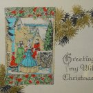 Vintage 20s or earlier to Wife- CHRISTMAS GREETING CARD