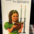 Vintage Hanukkah Dear Granddaughter Card / Unused, w/ Envelope