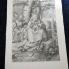 Vintage  CHRISTMAS GREETING CARD *etching of Madonna & Child by Leydon* unused