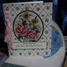 Vintage JEWISH NEW YEAR* to UNCLE-tissue lined envelope RIBBON -FLOWERS