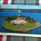 New York City STATUE OF LIBERTY & New Jersey POSTCARD