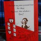 Valentine ' Vintage 40's chipmunk shopping for Valentines Card