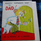 VINTAGE unused FATHER'S DAY 1950 * A PEACH