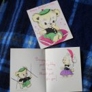 VINTAGE MOTHER'S DAY CARD - TEDDY BEAR WITH BEANIE Hat