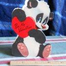 Valentine  BE MY VALENTINE ' Vintage 40's COY PANDA die cut