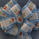 JOLLY SNOWMEN RIBBON - CHRISTMAS WREATH, SWAG, GARLAND OR PRESENT BOWS (3 BOWS/PACKAGE)