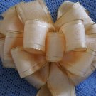 SIMPLE ELEGANCE CRÈME W/ GOLD TRIM - WREATH, SWAG, GARLAND OR PRESENT BOWS (3 BOWS/PACKAGE)