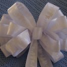 WHITE CHRISTMAS - CHRISTMAS WREATH, SWAG, GARLAND OR PRESENT BOWS (6 BOWS/PACKAGE)