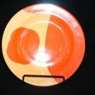 RARE Rock Vineyard Porcelain (Rios Assoc) Bright Yellow & Orange Dinner Plate