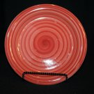 "Philippe Richard red SWIRL hand-painted &crafted 10 1/2"" Dinner Plate-replacemnt"
