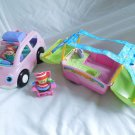 Fisher Price Little People Camping Adventure with Open & Close pink SUV