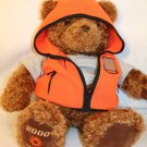 "Gund 2000-2001 May Dept Store Wish Bear Cheer 25"" orange vest Stuffed Plush"