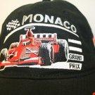 Monaco Grand Prix Formula 1 Race Black embroidered Strapback Cap Hat trucker Dad