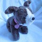 BARBIE Dk Brown Puppy Dog Stuffed Plush Sound Heart Light 2007 Barks Pants