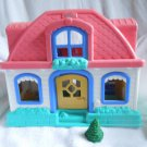 Fisher Price Little People Sweet Sounds Home Pink roof characters tree works