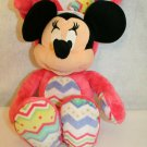 Disney Store Minnie Mouse Hunny Bunny Colorful Pink Easter Costume Stuffed Plush