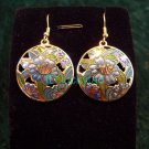 stunning folk beautiful rare colorful round earrings