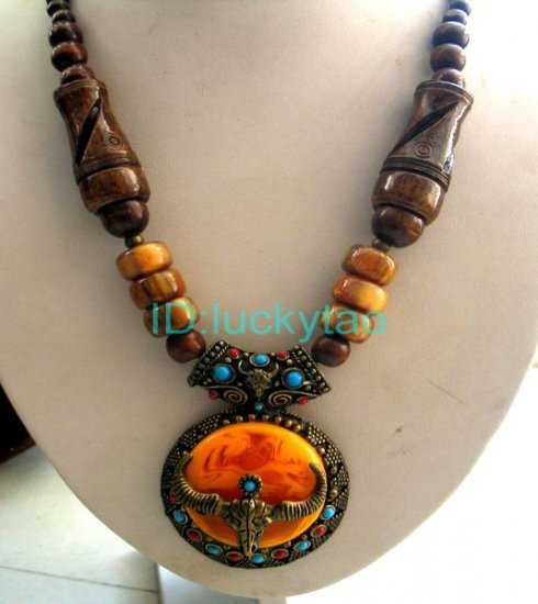 Chinese Tibet  Minority Character Necklace
