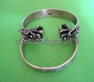 china character Miao silver bracelet