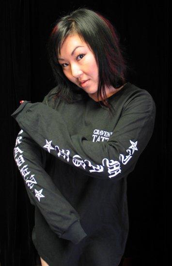 Long Sleeve Graven Image Tattoo T-Shirt **LARGE**