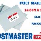 100 Poly Mailers, 14.5 in x 19 in, Polyair Fastpak Envelope, Polyethylene Bags
